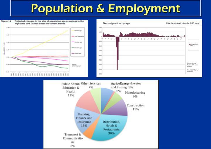 Population & Employment