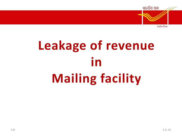 Leakage of revenue