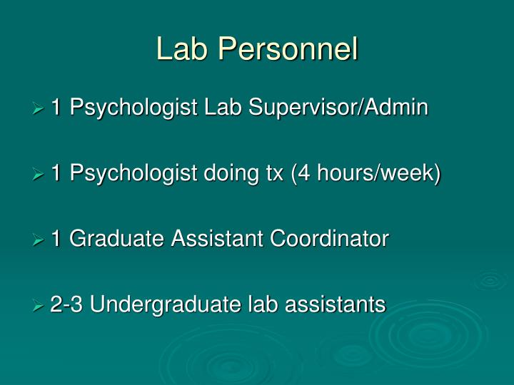 Lab Personnel