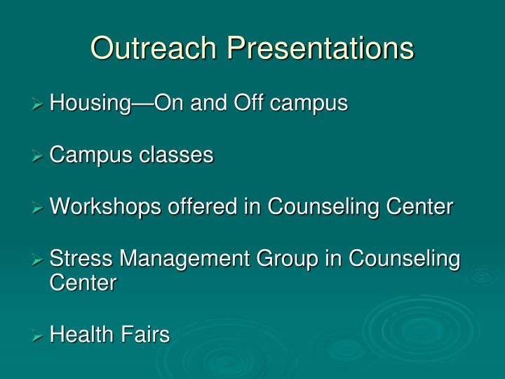 Outreach Presentations