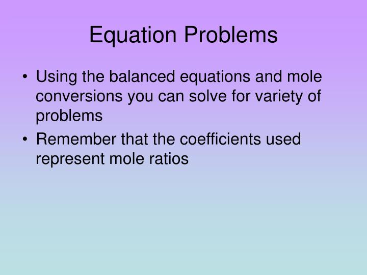 Equation Problems