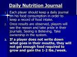 daily nutrition journal