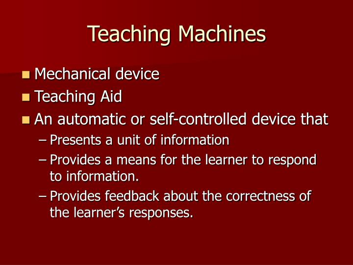 Teaching Machines