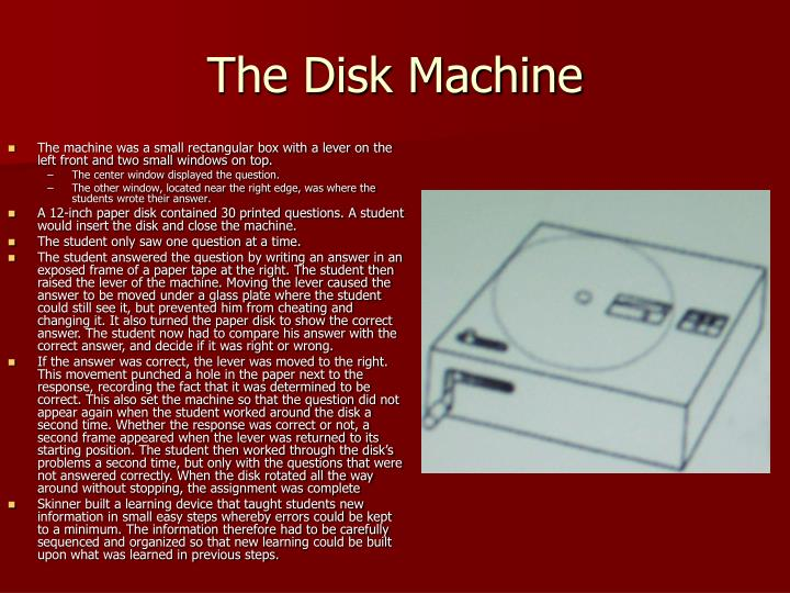The Disk Machine