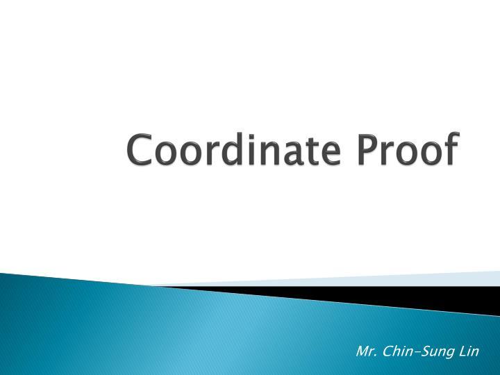 Coordinate Proof