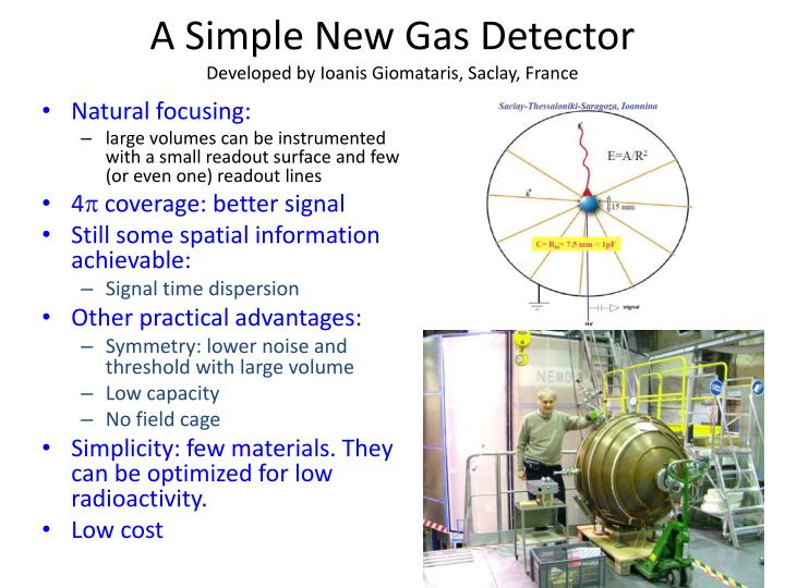 A simple new gas detector developed by ioanis giomataris saclay france