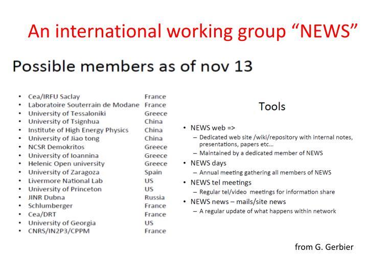 """An international working group """"NEWS"""""""