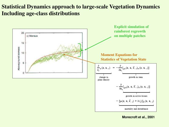 Statistical Dynamics approach to large-scale Vegetation Dynamics
