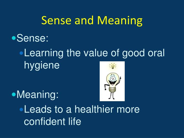 Sense and Meaning