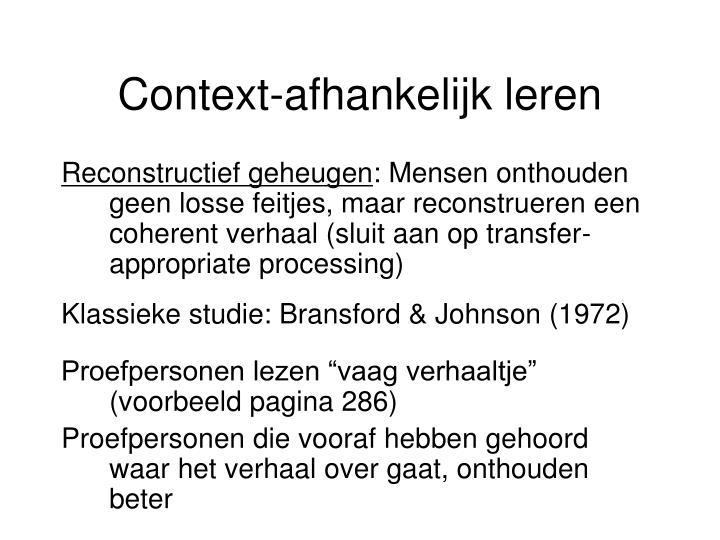 Context-afhankelijk leren