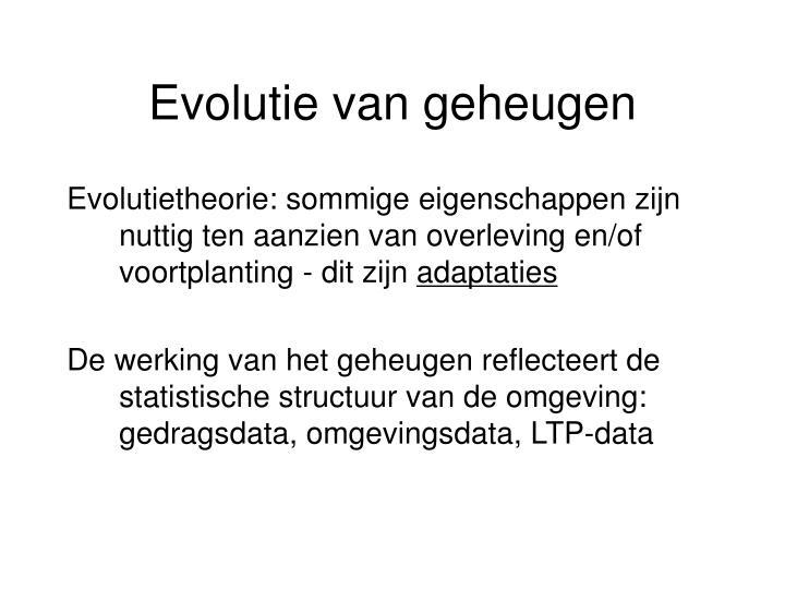 Evolutie van geheugen
