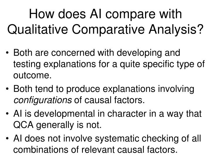 How does AI compare with Qualitative Comparative Analysis?
