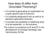 how does ai differ from grounded theorising
