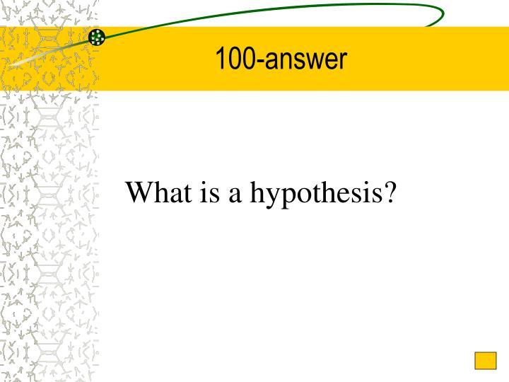 100-answer