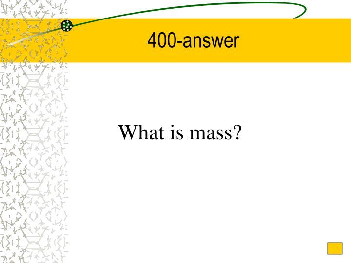 400-answer