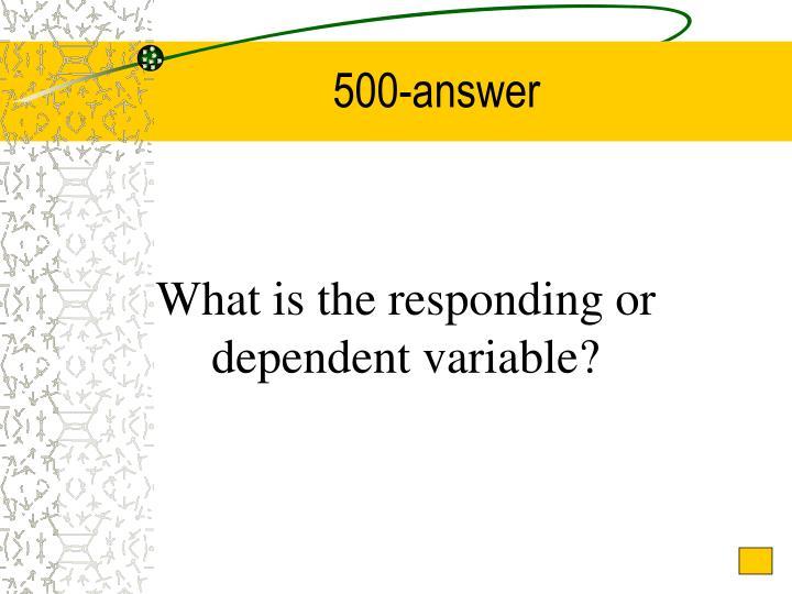 500-answer