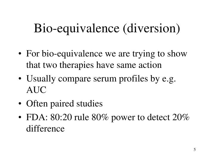 Bio-equivalence (diversion)