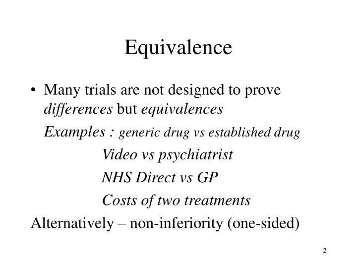 Equivalence