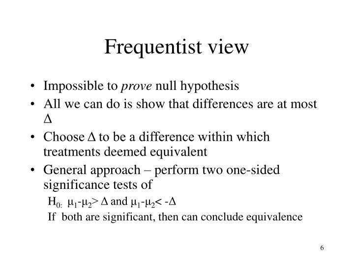 Frequentist view
