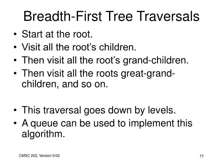 Breadth-First Tree Traversals