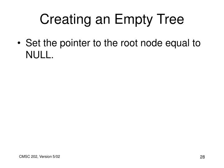 Creating an Empty Tree