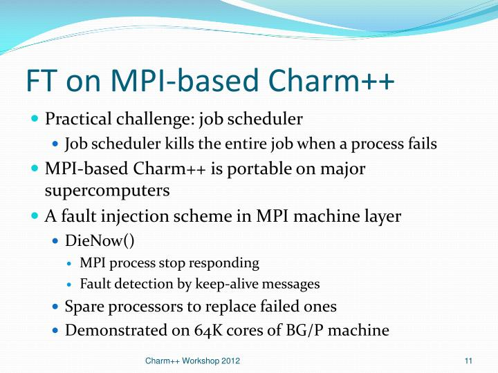 FT on MPI-based Charm++