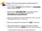 things that are essential to remember