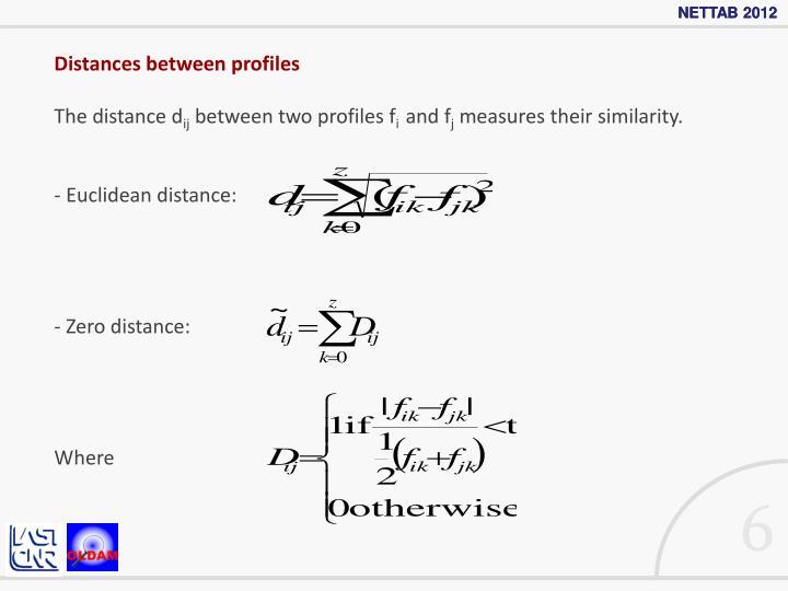 Distances between profiles