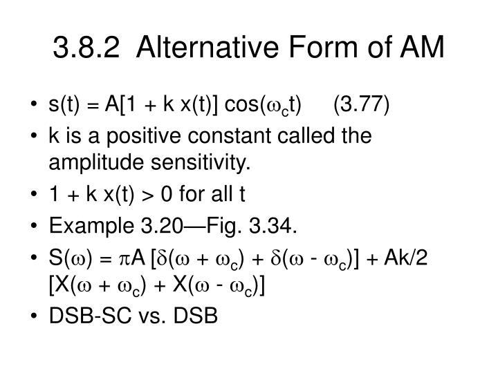 3.8.2  Alternative Form of AM