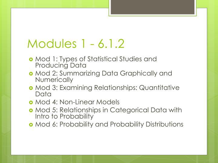 Modules 1 - 6.1.2