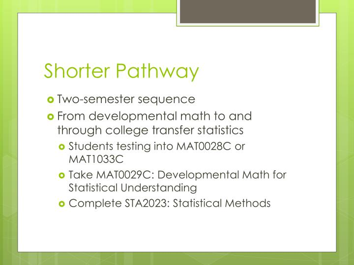 Shorter Pathway