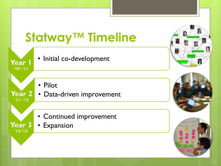 Statway™ Timeline