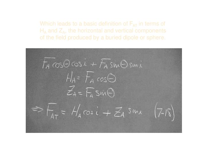 Which leads to a basic definition of F