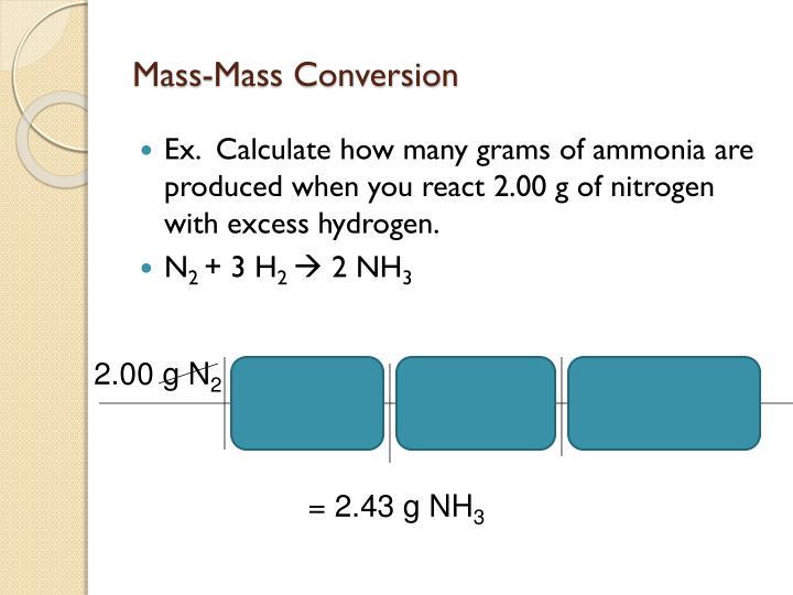 Mass-Mass Conversion