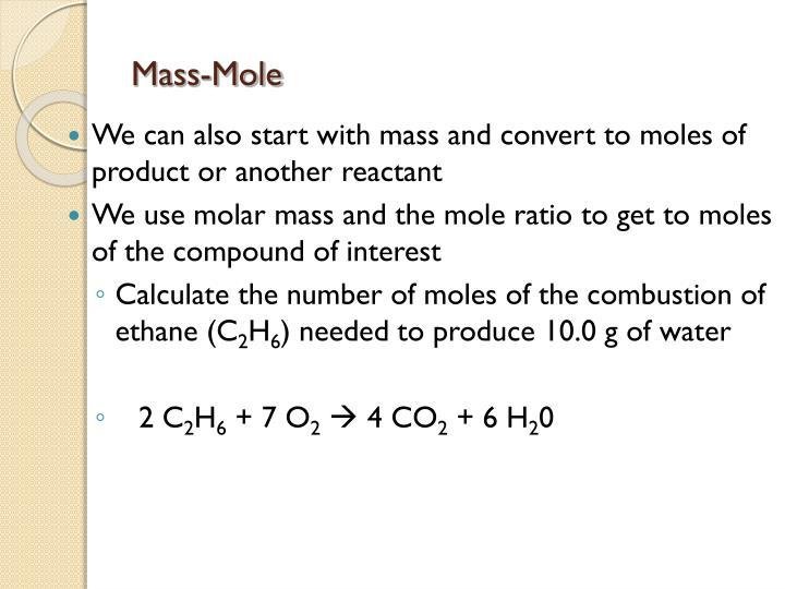 Mass-Mole