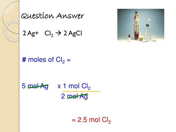 x 1 mol Cl