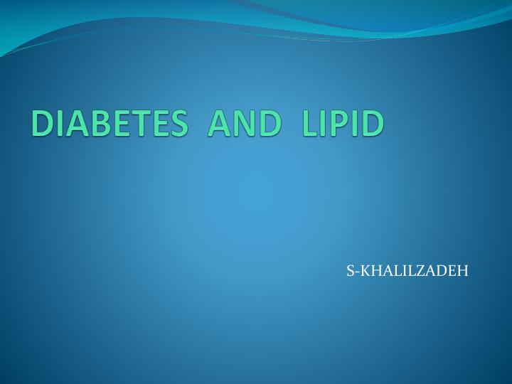 diabetes and lipid