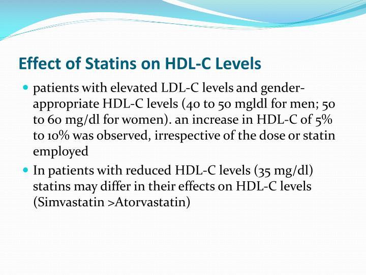 Effect of Statins on HDL-C Levels
