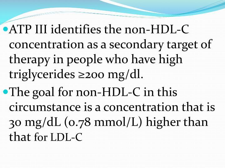 ATP III identifies the