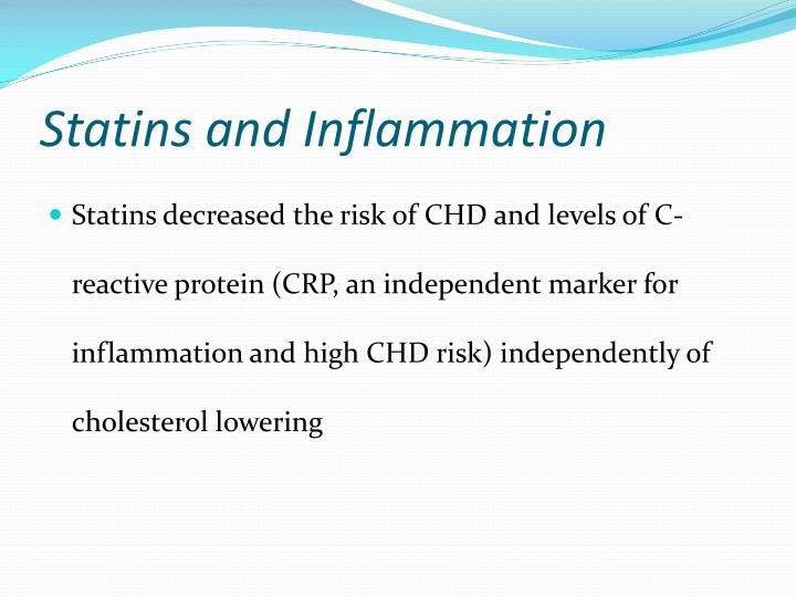 Statins and Inflammation