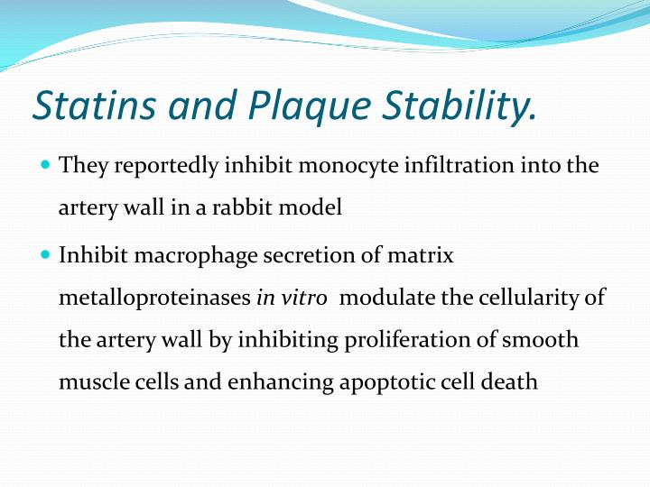 Statins and Plaque Stability.