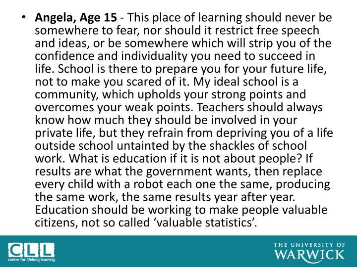 Angela, Age 15