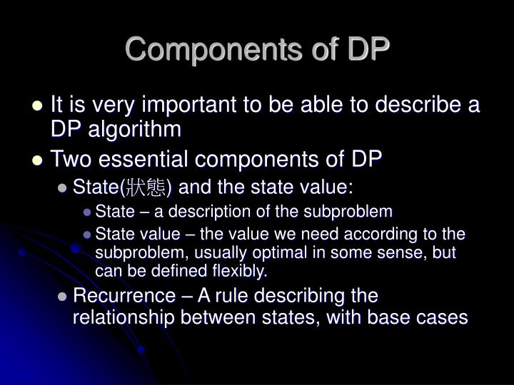 Components of DP