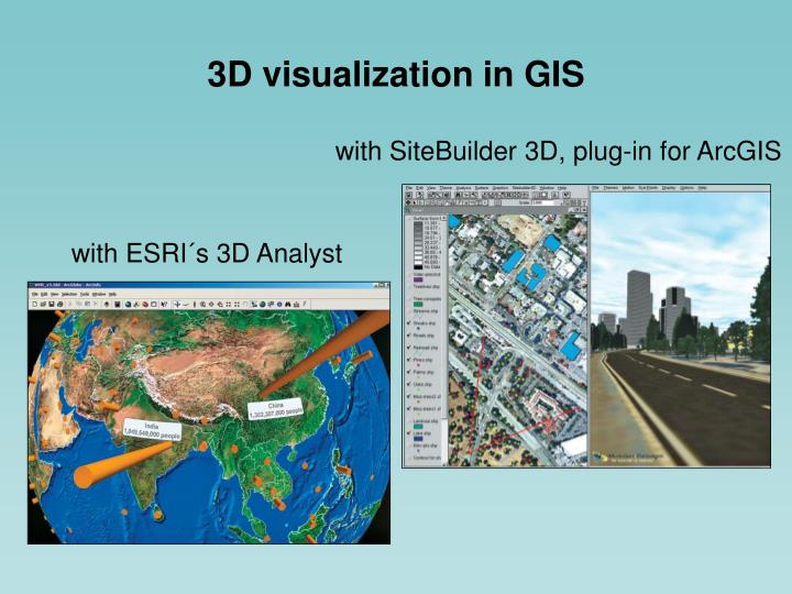 3D visualization in GIS