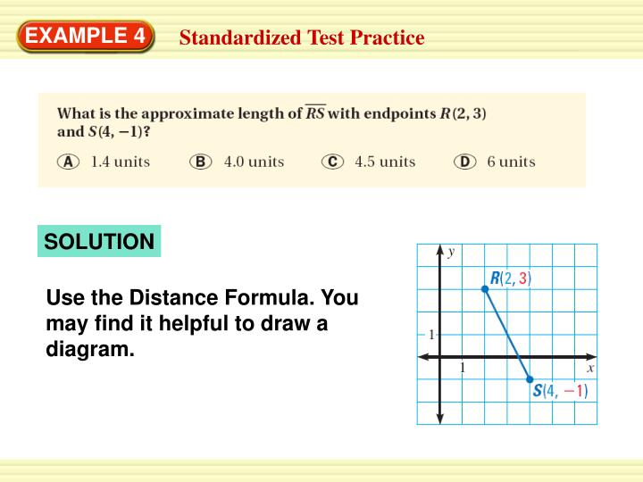 Use the Distance Formula. You may find it helpful to draw a diagram.