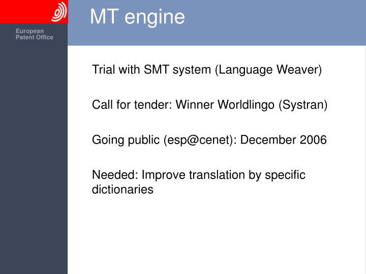 MT engine