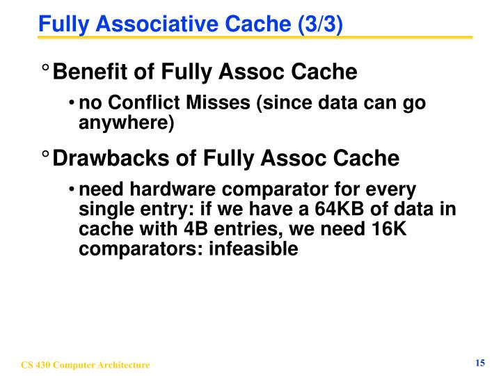Fully Associative Cache (3/3)