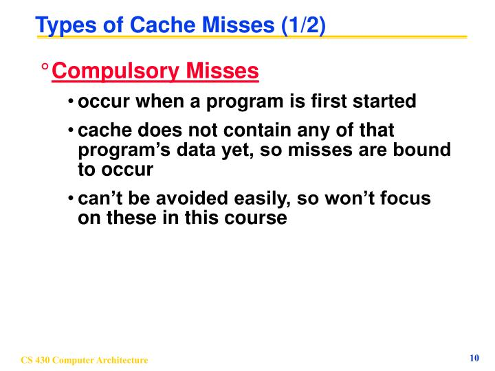 Types of Cache Misses (1/2)