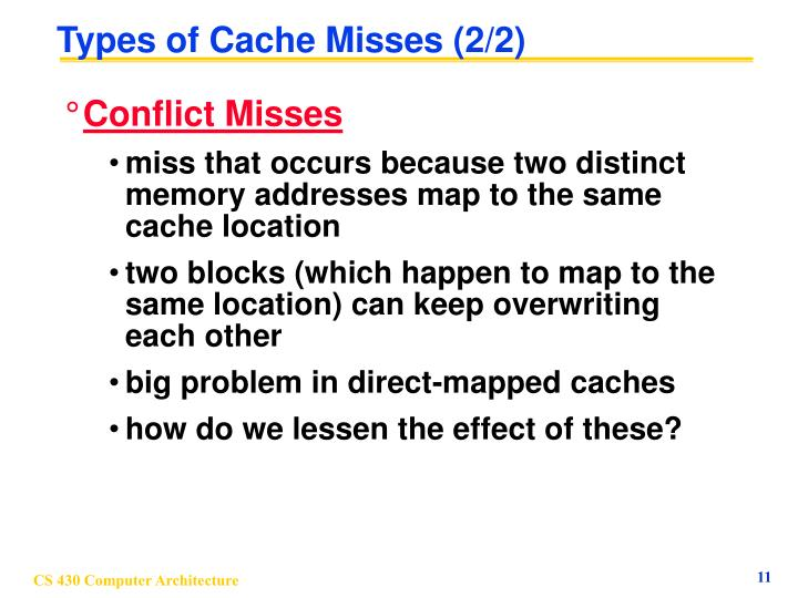 Types of Cache Misses (2/2)