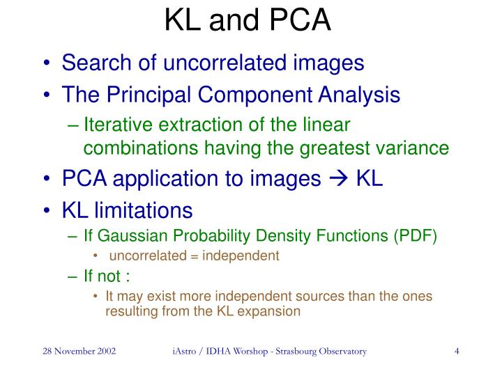 KL and PCA